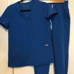 Figs Scrub Set royal blue xs/petite